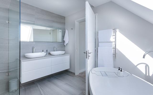 Posprzątana łazienka w apartamencie